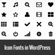 Cum sa folosesti fonturi icon in WordPress
